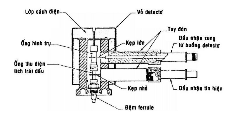 Detecto cộng kết điện tử theo kiểu đồng trục hình trụ